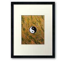 Yin Yang Stone Framed Print