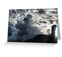 Dark Clouds over Crown Mountain Greeting Card