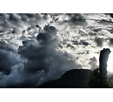 Dark Clouds over Crown Mountain Photographic Print