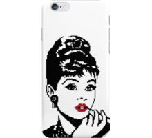 Audrey Hepburn - pixel art iPhone Case/Skin