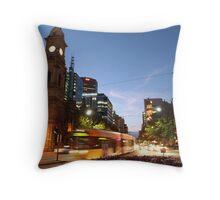 Adelaide Tram at Night Throw Pillow