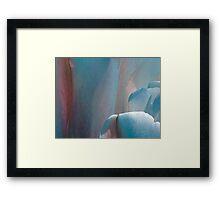 Tulip - blue Framed Print