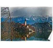 Island. Lake Bled. Slovenia Poster