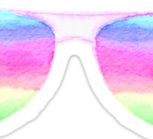 Rainbow Aviator Sunglasses in Watercolor - Trendy/Summer/Hipster Style Sticker