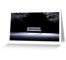 Bench and snow Greeting Card