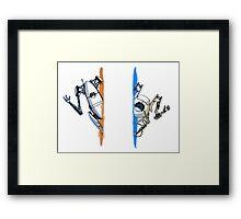 Portal 2 Multiplayer Framed Print