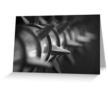 Black and White Spike Greeting Card