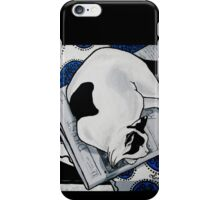 Patch, Sweet fat cat, napping in the sun iPhone Case/Skin