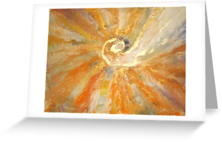 Spiral of light and waves of warmness  by Stella  Shube As