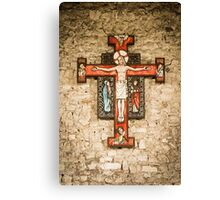 Cross at St Peter on the Wall, Bradwell on Sea Canvas Print