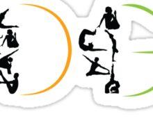 Yoga Wording Sticker
