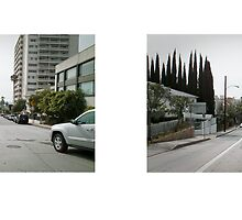 Sunset Boulevard + Doheny Road, West Hollywood, Los Angeles, California, USA...narrowed. by David Yoon