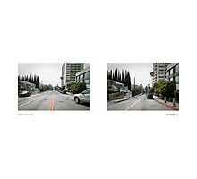 Sunset Boulevard + Doheny Road, West Hollywood, Los Angeles, California, USA...narrowed. Photographic Print