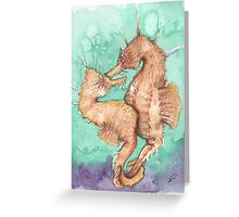 Seahorses in love Greeting Card