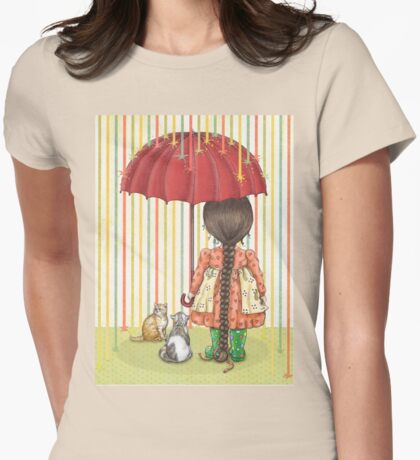 raining color Womens Fitted T-Shirt
