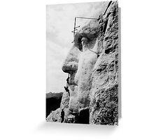 Mount Rushmore Construction Photo Greeting Card