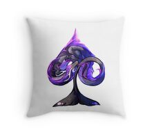 Ace of Dragons: Spades Throw Pillow