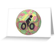 Cruisin' in the Bike Lane Greeting Card