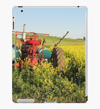Tractor and canola iPad Case/Skin