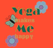 Yoga makes me happy by ramanandr