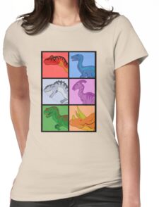 Dinosaur Squares Womens Fitted T-Shirt