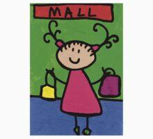 Happi Arti 5 - Shopaholic Little Girl Art One Piece - Short Sleeve