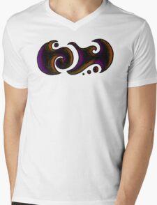James / جيامز (purple & gold) Mens V-Neck T-Shirt