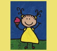 Happi Arte 3 - Little Girl Ice Cream Cone Art Baby Tee