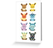 Pokemon 8-bit Eeveelutions Greeting Card
