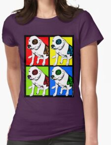 Colorful Pop Art Pit Bull Womens Fitted T-Shirt