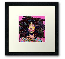 Miss Erykah Badu Framed Print