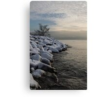 Clearing Snowstorm - Lake Ontario, Toronto, Canada Canvas Print