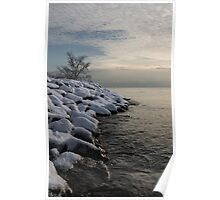 Clearing Snowstorm - Lake Ontario, Toronto, Canada Poster