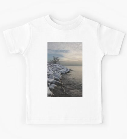 Clearing Snowstorm - Lake Ontario, Toronto, Canada Kids Tee
