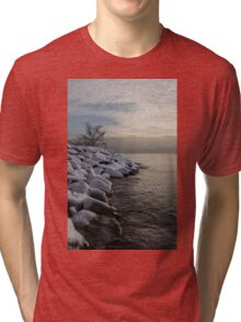 Clearing Snowstorm - Lake Ontario, Toronto, Canada Tri-blend T-Shirt