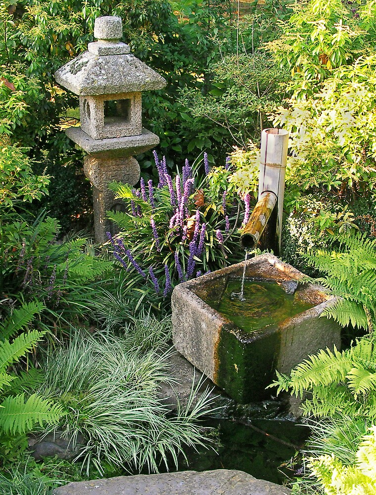 Japanese Water Feature By Steven Nicolaides Redbubble