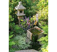 Japanese Water Feature Photographic Print