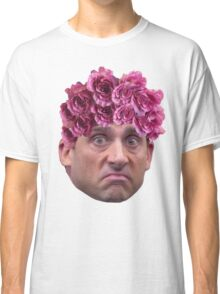 Michael Scott Flower Crown Classic T-Shirt