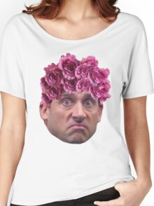 Michael Scott Flower Crown Women's Relaxed Fit T-Shirt