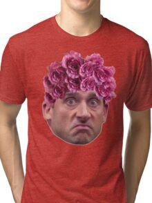 Michael Scott Flower Crown Tri-blend T-Shirt