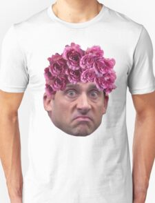 Michael Scott Flower Crown Unisex T-Shirt