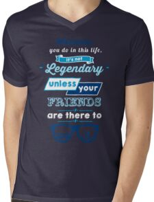 Legendary - Barney Stinson Quote (Blue) Mens V-Neck T-Shirt