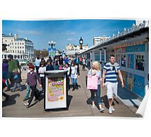 Bright and Sunny: Brighton Pier, UK. Poster