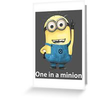 Despicable Me - One In A Minion Greeting Card