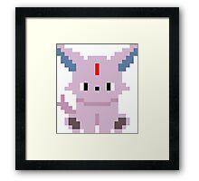 Pokemon 8-bit Espeon Framed Print