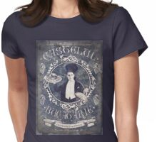 """Chef Dracula's Restaurant: """"For the BITE of your LIFE!"""" (Old Metal Sign) Womens Fitted T-Shirt"""