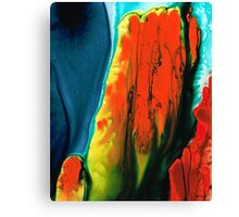Lava - Red Orange Abstract Painting Canvas Print