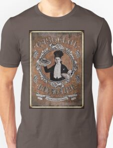 "Chef Dracula's Restaurant: ""For the BITE of your LIFE!"" (Old Paper Poster) Unisex T-Shirt"