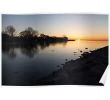 Greeting the New Day on Lake Ontario in Toronto, Canada Poster