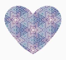 Geometric Star Maze Pattern T-Shirt